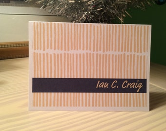 Lines Personalized Stationary Set of 12