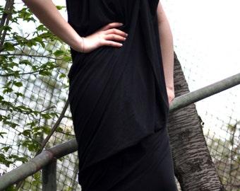 Asymmetric Maxi Dress / Extravagant Loose Dress / Maxi Party Dress