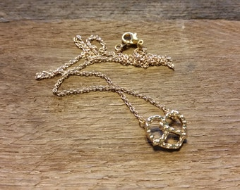 18k gold plated pretzel necklace!