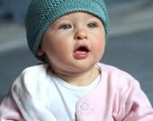 Soft-Knit Handmade Merino Baby Hat with Pom Pom (Ready to Ship)