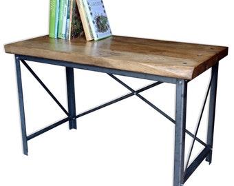 KONK! - Industrial Style Oak/Steel Desk [Bespoke sizes available!]