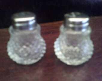 Minature Glass Salt & Pepper Shakers