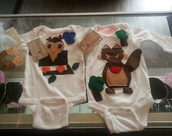 Adorable Woodland Creatures Onesie/Toddler T