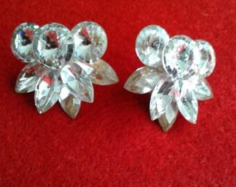 Vintage Clear Glass Earrings