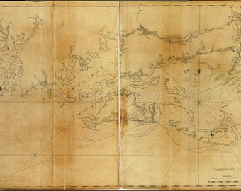24x36 Poster; Map Marthas Vineyard Nantucket Massachusetts 1779