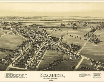 24x36 Poster; Map Of Macungie, Lehigh County Pennsylvania, 1893