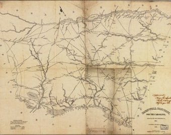 24x36 Poster; Map Of Barnwell District, South Carolina 1825
