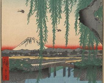 24x36 Poster; Yatsumi Bridge Tokyo Japan From One Hundred Famous Views Of Edo