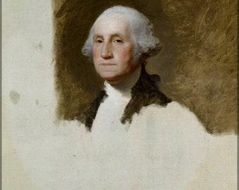 24x36 Poster; Athenaeum Portrait Of George Washington (The Athenaeum Portrait) By Gilbert Stuart 1796