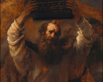24x36 Poster; Moses With The Ten Commandments By Rembrandt