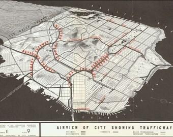 24x36 Poster; 1948 San Francisco Trafficways Plan Map