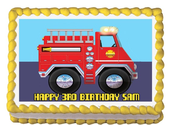 Edible Cake Images Instructions : Fire Engine Cake Instructions, Fire, Free Engine Image For ...