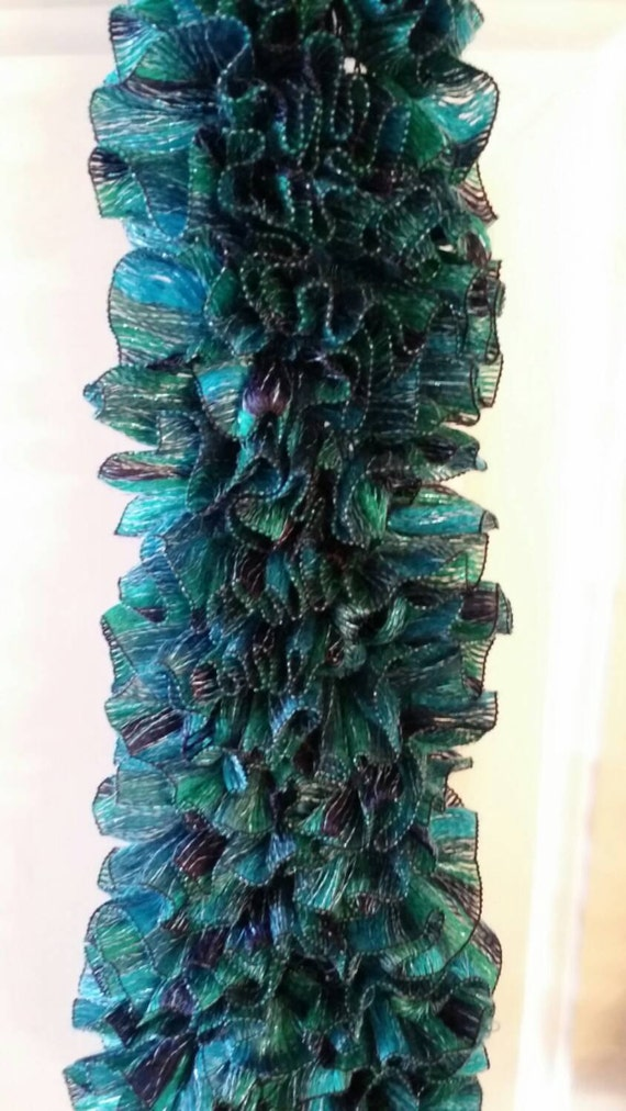 teal blue fun fashion scarf