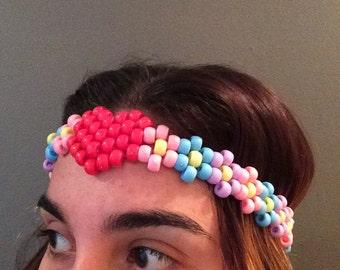 Kandi heart flower headband!