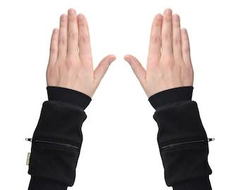 Wrist Zips | Wrist Wallet Cuffs | Black