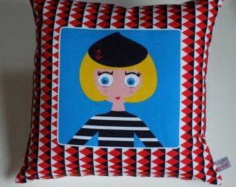 Free shipping! Cushion reasons Navy, 40 x 40cm