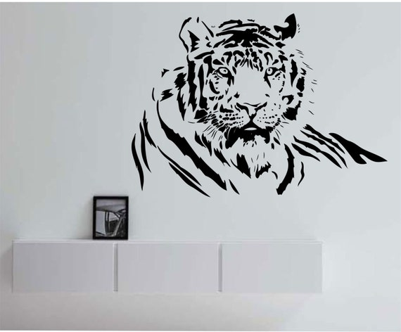 Tiger Wall Decal tiger wall art tiger wall decor l design Sticker Art Decor Bedroom Design