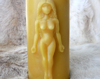 Eve Candle - Goddess Candle - Woman Candle - Beeswax
