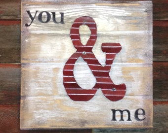 10 yr Tradional Gift is Tin . Here is a Reclaimed Old BARN WOOD & TIN Sign.         Custom Handcrafted peronalized Art. Ready to ship
