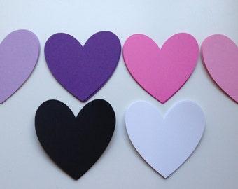 Large Paper Die Cut Hearts - 20 pcs