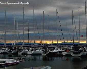 Docked at sunrise (Landscape, Nature, Sunrise, Fine Art Photography)