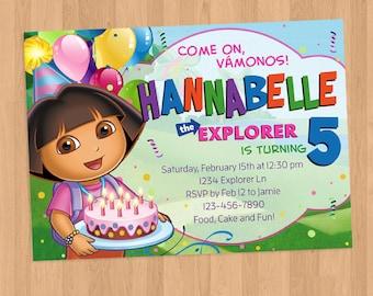 Dora the Explorer Birthday Party Invitation Printable