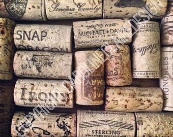 Corked - Downloadable Wine Cork Photography