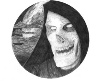 Dead as Night A3 Illustration Print