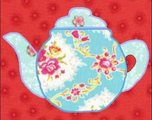 Teapot Pattern - Teapot Quilt Block - Quilt Appliqué - Instant Download - Block Pattern - Quilt Pattern - Quilt Block - Block Pattern