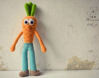 Crochet amigurumi pattern, carrot amigurumi pattern, Cary the carrot boy, pattern no. 10