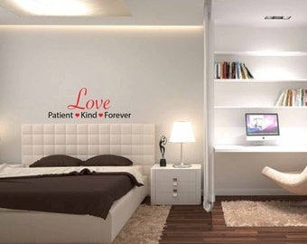Love Patient Kind Forever Vinyl Wall Decal