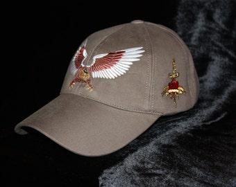 American Eagle Baseball Cap Khaki Rebel Glam Rock Clothing Golf Men Hat