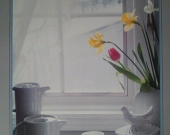 MORNING SUN William Zierhofer Print,window,pot,bird,pearl,brush,flowers,youth,spoon,pleasant,bowl,milk,number,frame,essence,colorfull,stage