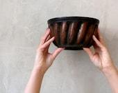 Vintage polish ceramic mold for cake. Cake mold. Polish farm. Kitchen Décor