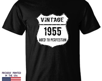 62nd birthday gift Vintage Made in 1955 Aged to Perfection T Shirt
