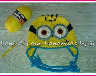 CAP for child or baby boy inspired by the Minions, made in crochet
