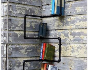 Franklin Industrial Iron Corner Bookshelf