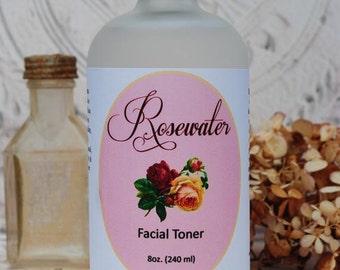 Rose Water Facial Toner ~ 8 oz. (240mL)