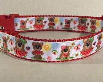 Beary Sweet Dog Collar