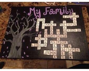 Family tree crossword puzzle