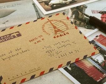 Large Sized RETRO VINTAGE STYLE Envelopes  10Pk