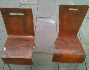 sedia lamiera arrugginita / rust chears