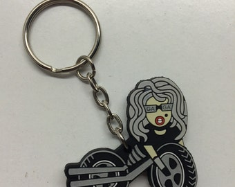 Lady Gaga Keychain - Born This Way Era, Limited Edition - Motorcycle - Mother Monster