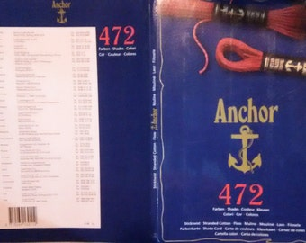 Anchor (2005) Color Shade Card (real threads not printed colors)