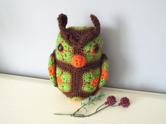 African Flower Amigurumi Free : Handmade crochet Owl doll Amigurumi Home Decor Ornament owl