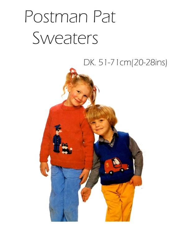 Knitting Pattern Postman Pat : postman pat sweater dk knitting pattern 99p