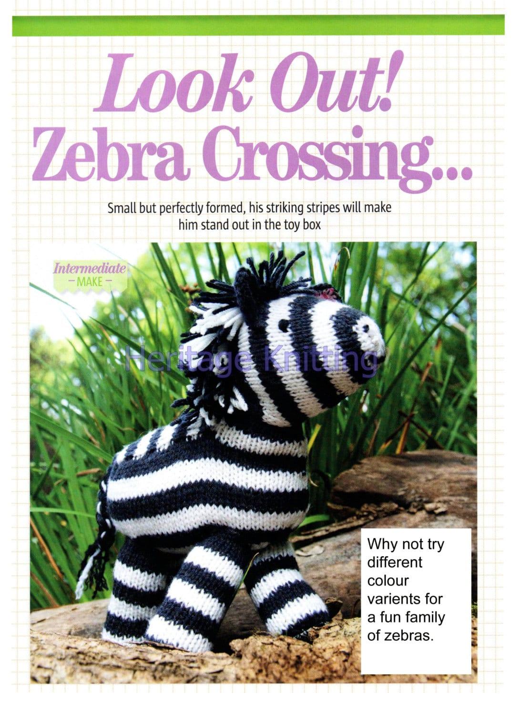 zebra toy dk knitting pattern 99p