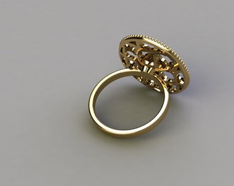 Ring  -14 k gold -Diamonds--   Fashion Diamond  ring