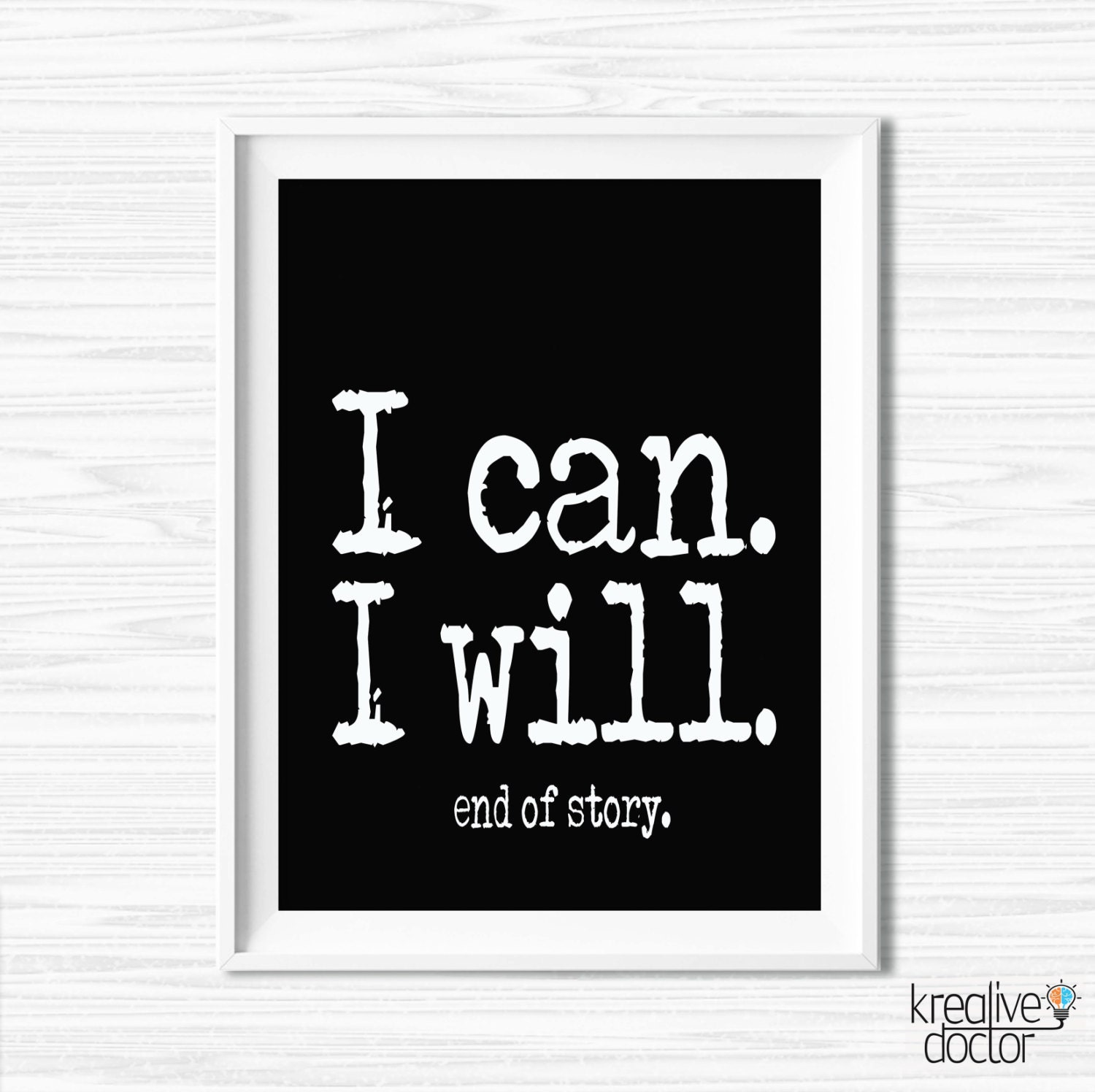 Motivational wall canvas inspiration quote office wall decor - Inspirational quotes wall decor ...