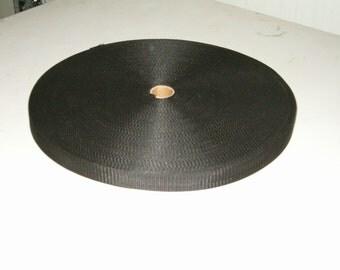 "Lightweight poly webbing 1"" width by the yard black"